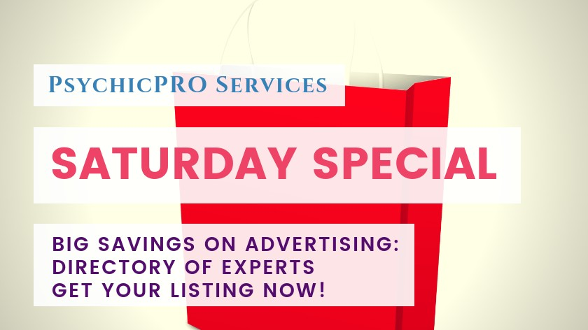 Saturday Special: Huge Savings Savings on a New Listing in the Directory of Experts