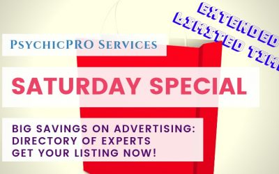 Extended Limited Time: Huge Savings Savings on a New Listing in the Directory of Experts